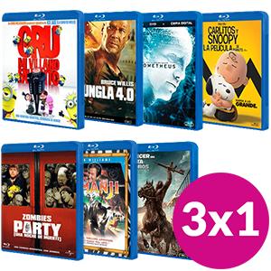 3x1 en películas bluray en GAME