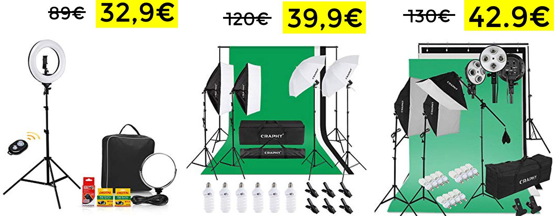 Anillo luz 40W Bluetooth solo 32.9€