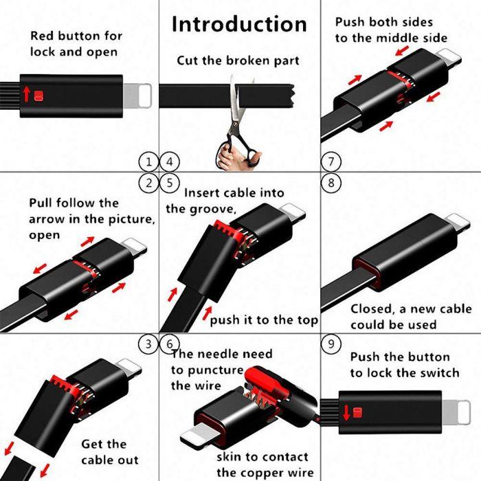 El Cable del Futuro: Cable Reparable Micro USB / Lightning / Type C