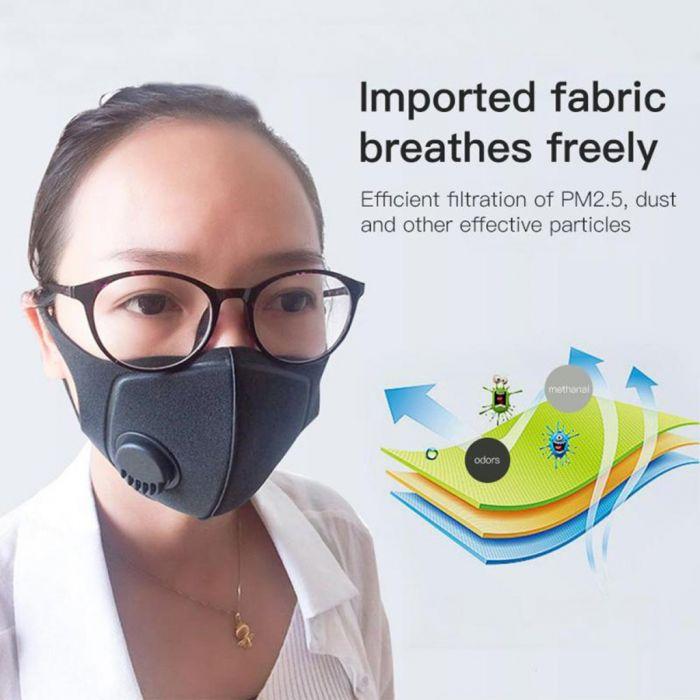 Mascarilla antipolución reutilizable PM2.5
