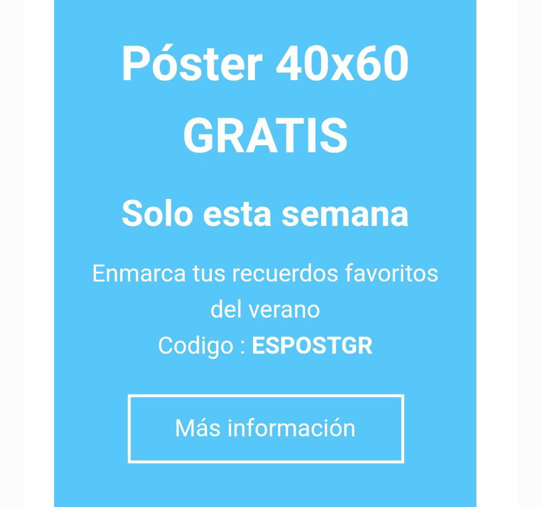 Poster foto gratis (solo envío) 40x60