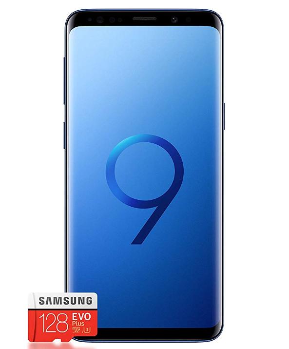 Samsung S9 y tarjeta 128GB = 544€ (con garantía Amazon)