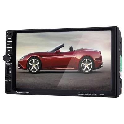 "Multimedia coche 7"" con cámara marcha atrás, FM, videos, Bluetooth, USB, Aux, mando distancia..."