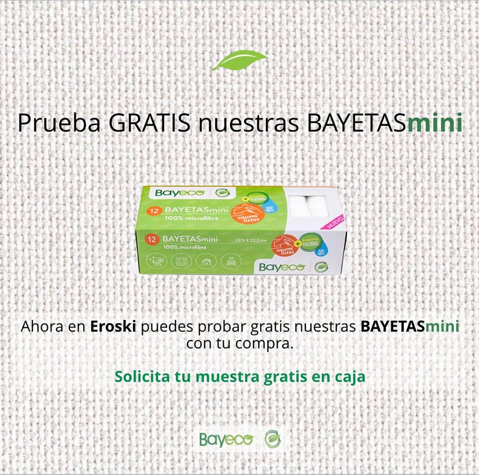 Muestra de Bayetasmini GRATIS en Hipermercados Eroski