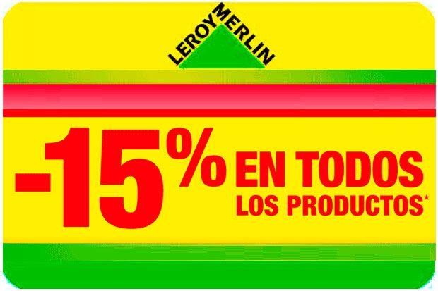 15% de descuento en todos los productos de Leroy Merlin que no tengan ya descuento desde el 24 al 27 de septiembre