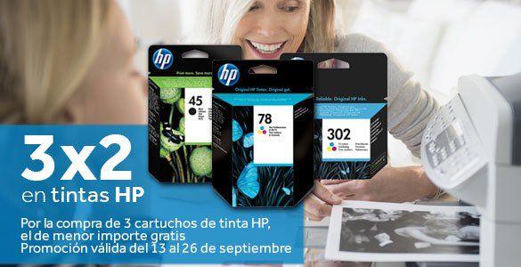 3x2 tinta hp y envío gratis