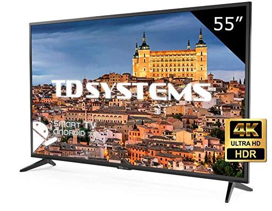 Televisor Led 55 Pulgadas Ultra HD 4K Smart TD