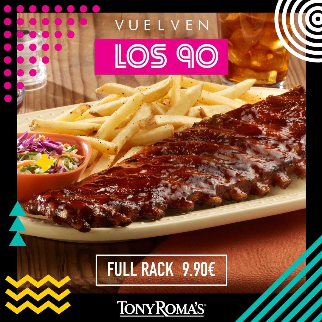 """Promoción Tony Roma's """"Vuelven los 90"""""""