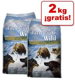 2kg de regalo de pienso Taste of the Wild para perros comprando 2kg