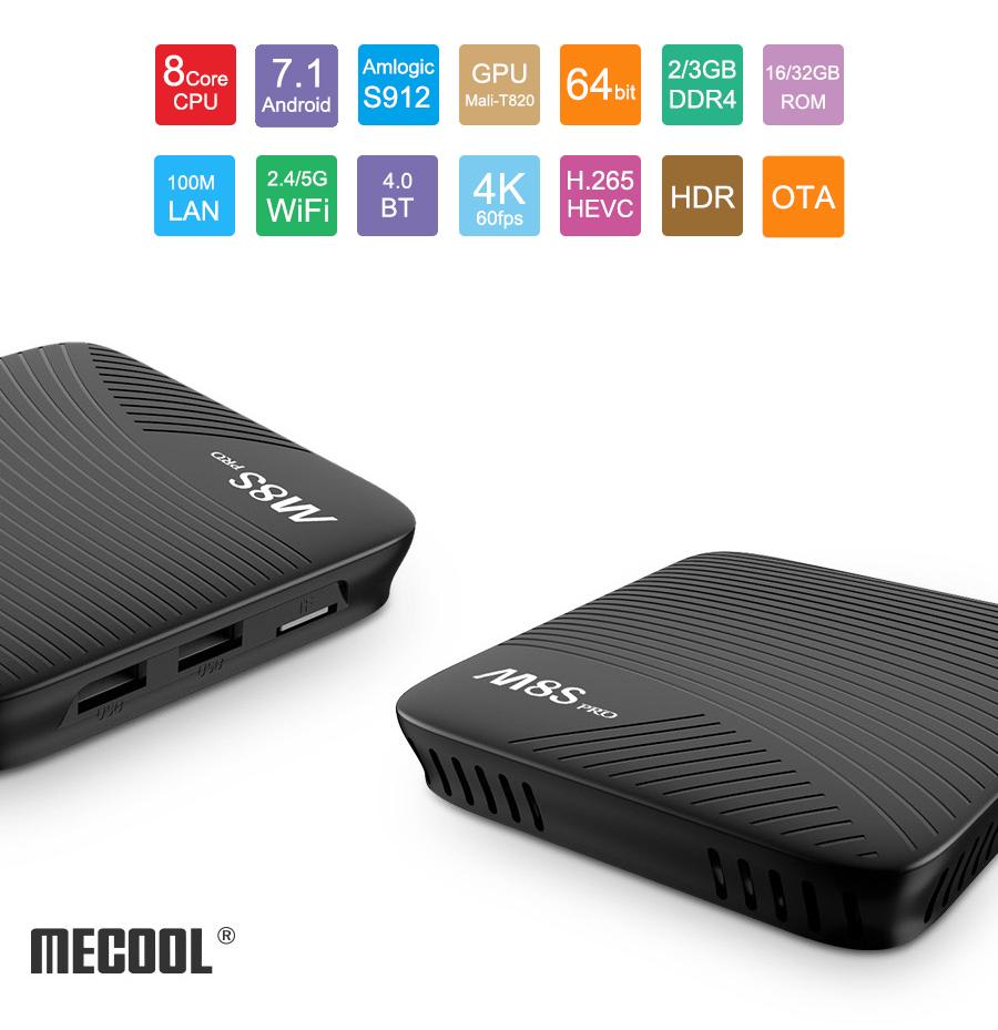 TV BOX Amlogic S912 (Desde España) MECOOL M8S PRO