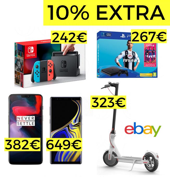 10% de descuento en electrónica en eBay