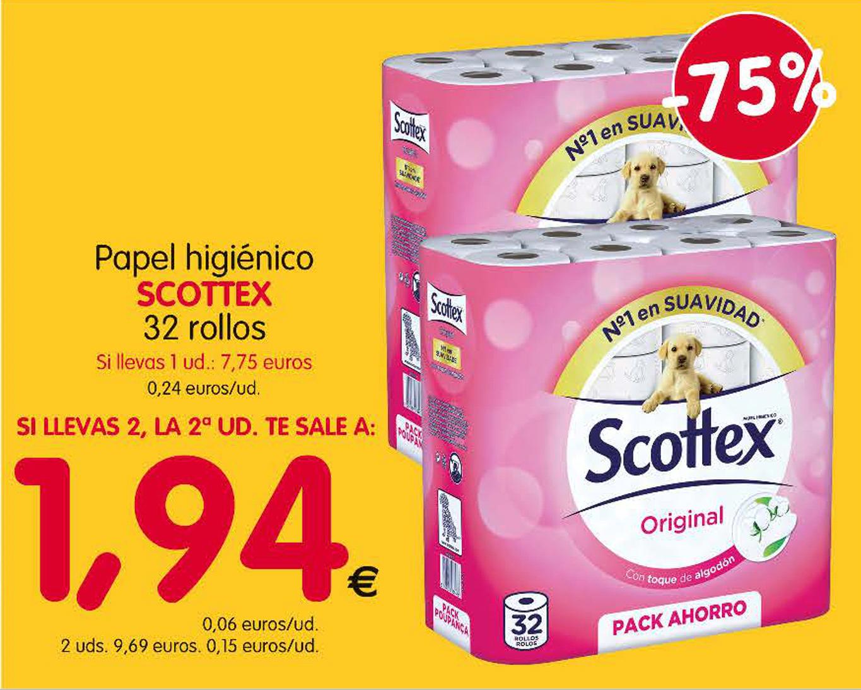 Rollo papel higiénico Scottex (15 céntimos)
