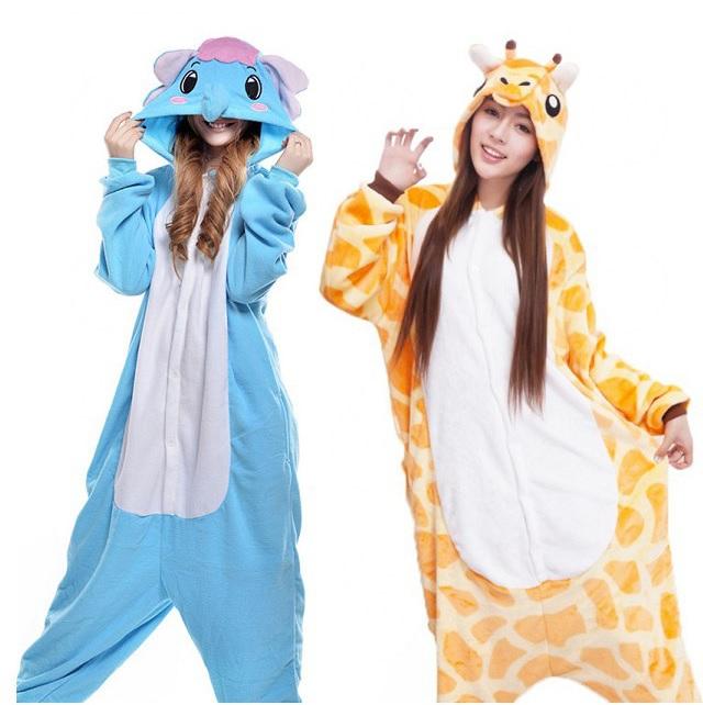 Pijamas de animales para niños y adultos (con código descuento)