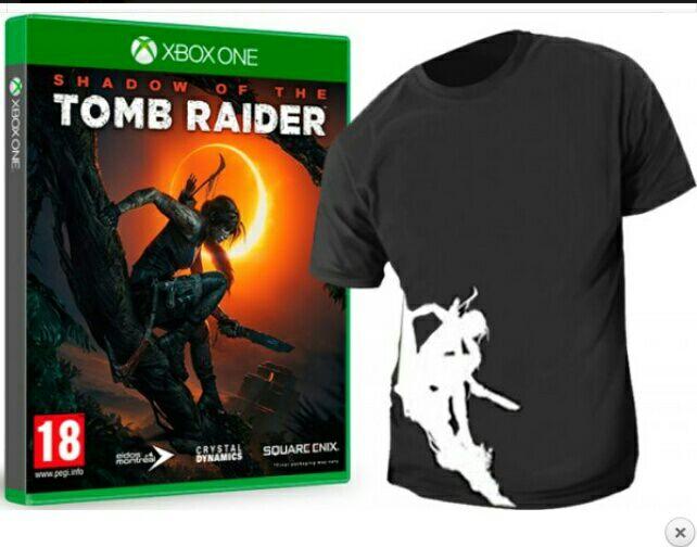 Shadow of the Tomb Raider con camiseta regalo
