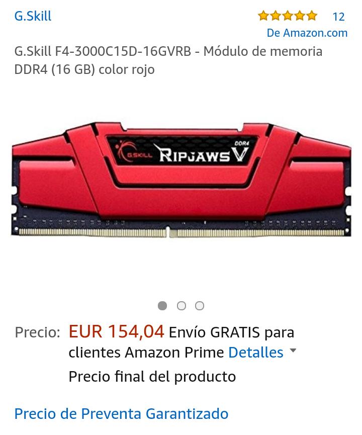 Ram G.skill DDR4 16gb 3000hz