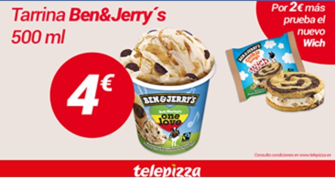 Helados Ben&Jerry's Telepizza