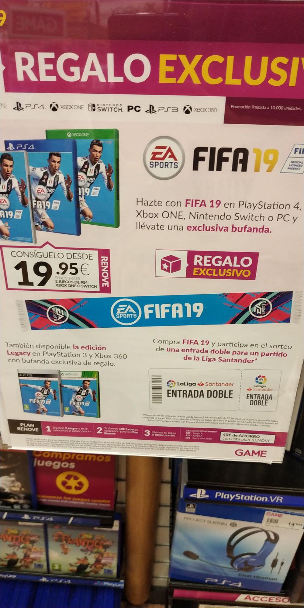 FIFA 19+ bufanda exclusiva (en GAME)