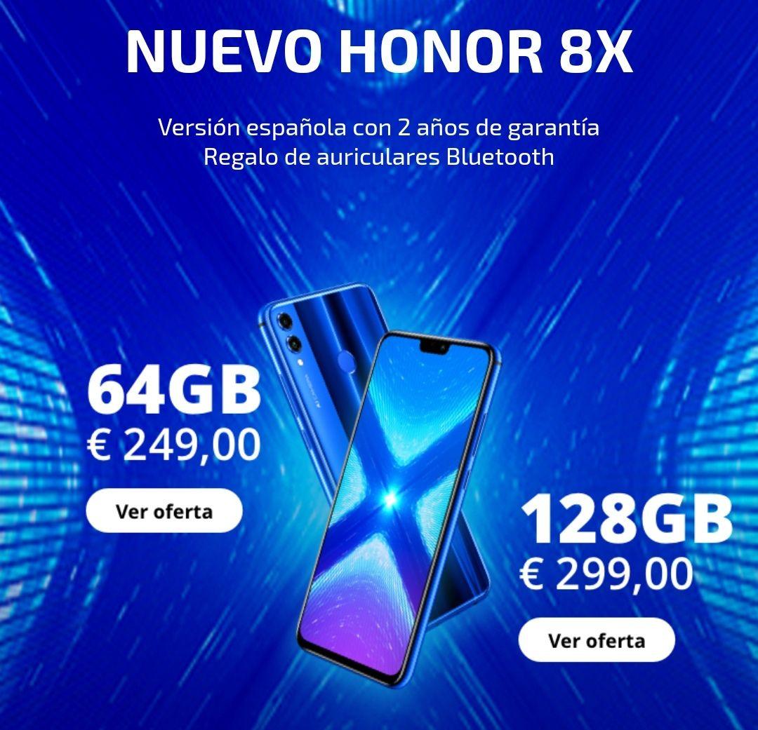 Honor 8x + Auriculares de regalo + Envío desde españa