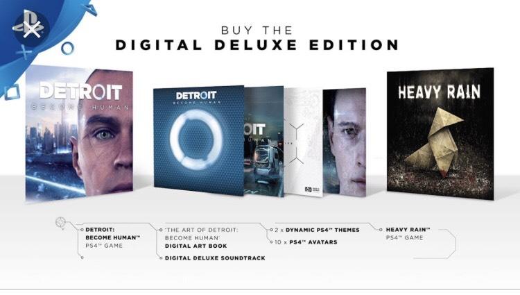 Detroit: Become Human Edición deluxe + Heavy Rain PS4