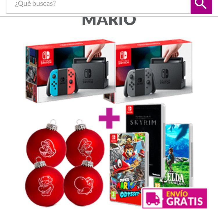Nintendo Switch + dos juegos a escoger