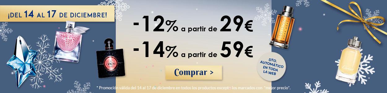 Paco Perfumerías: Dto. de entre 12% y 14% en toda la web*
