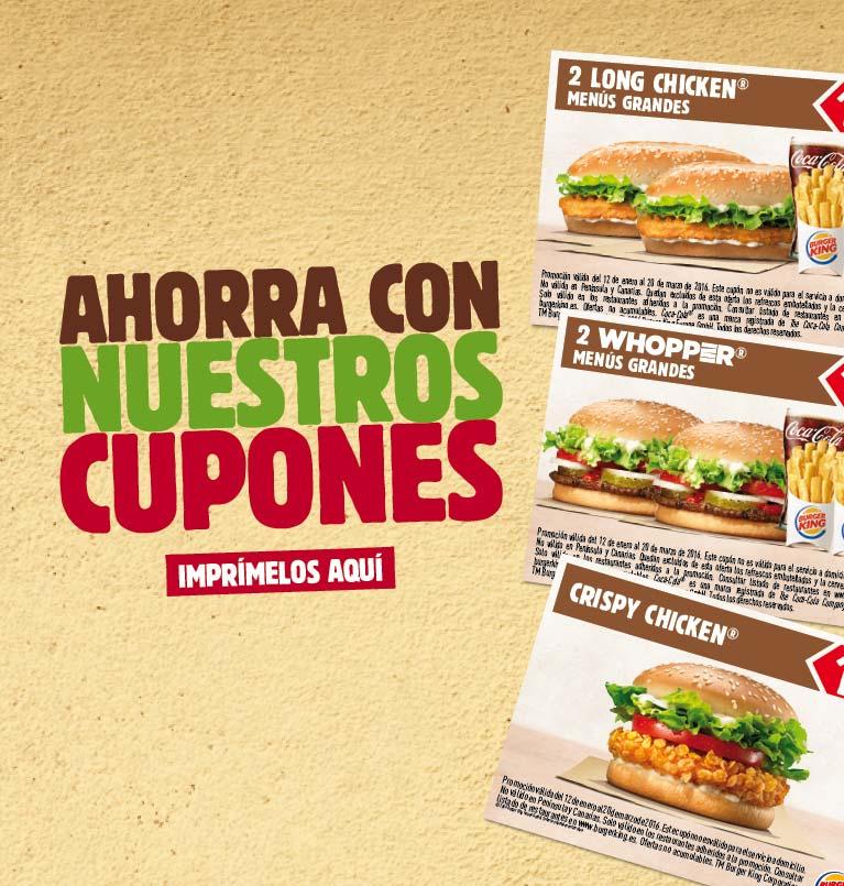 Cupones Burger King Octubre