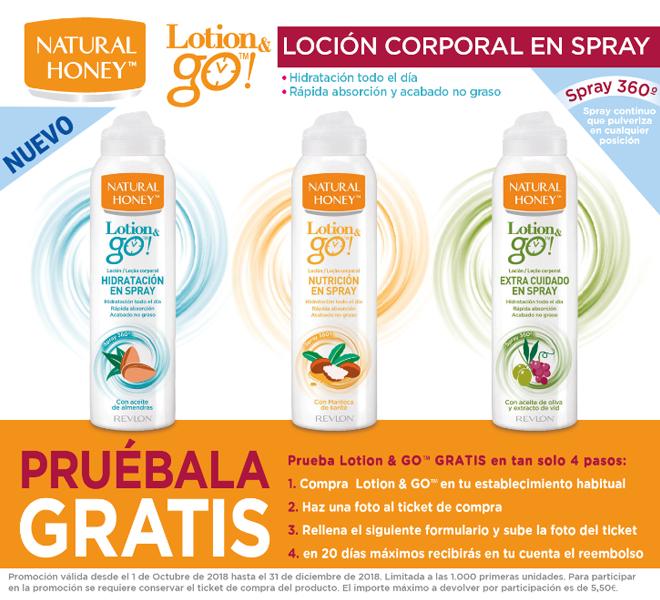 Prueba GRATIS Loción Corporal en Spray Natural Honey (Reembolso)