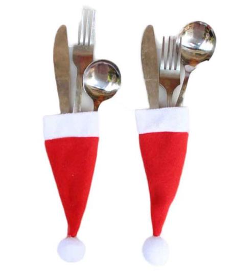 Gorro de Papa Noel para los cubiertos a 0.08 euros