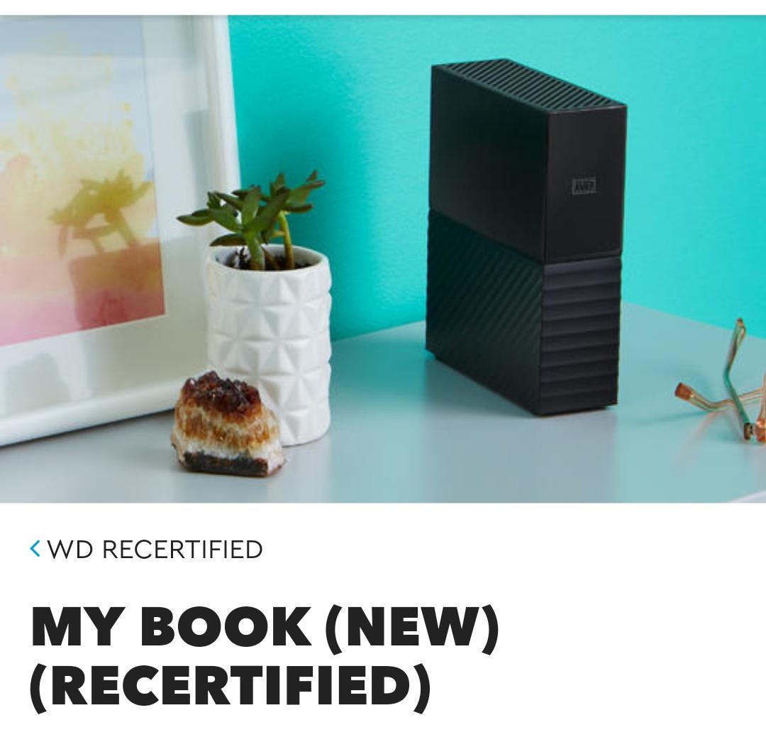 Western digital 4TB My Book New (RECERTIFICADO)