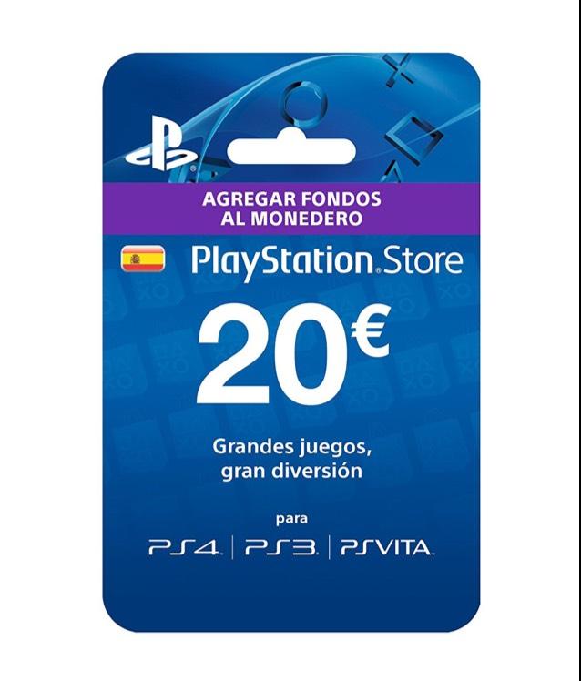 Tarjeta prepago 20€ PlayStation PSN