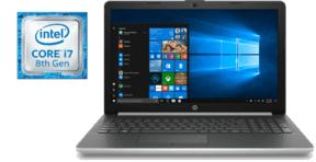 Portátil - HP 15-DA0071NS, Intel® Core i7-8550U, 8 GB, 256 GB SSD, Plata natural y ceniza