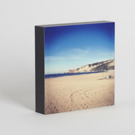 Bloque de fotos de madera de 12 x 12 cm en color negro