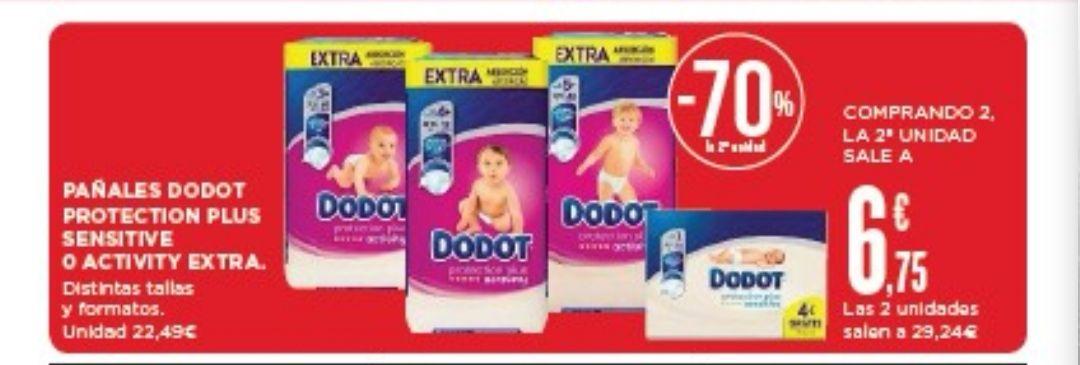70% descuento en segunda unidad pañales Dodot en Supercor