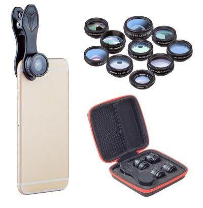 Kit de 10 Lentes para Smartphone