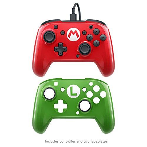 Mando - PDP Wired Pro, Carcasa deluxe Mario/Luigi , para Nintendo Switch