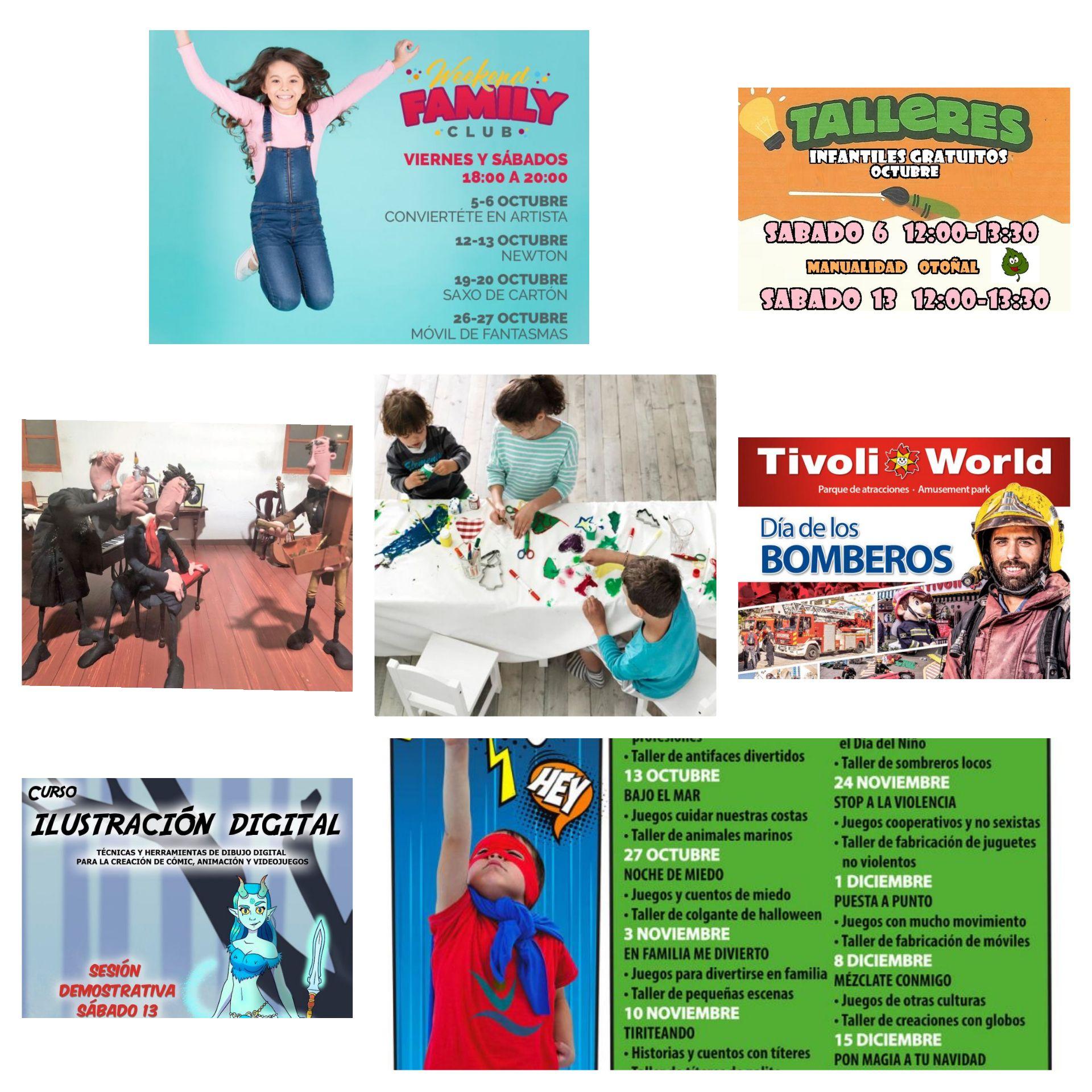 Actividades y planes gratis para niños en Málaga capital y provincia, para este puente del Pilar