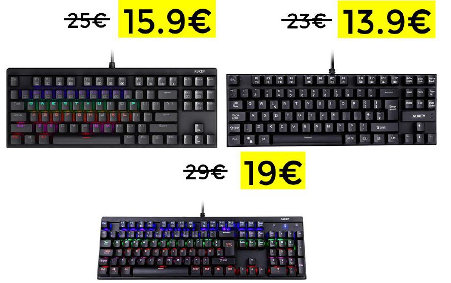 Descuentazos para teclados mecánicos Aukey
