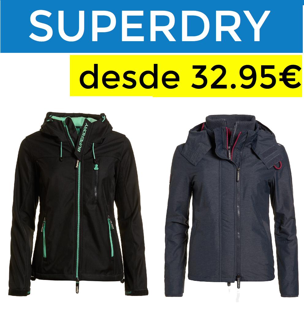 Chaquetas Superdry mujer solo 32.95€