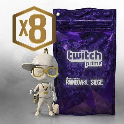 8 paquetes Twitch Prime y 1 Amuleto CHIBI legendario