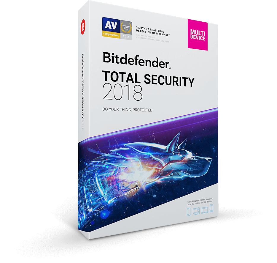 Bitdefender Total Security 2018 - 1 año (5 dispositivos) - Testado