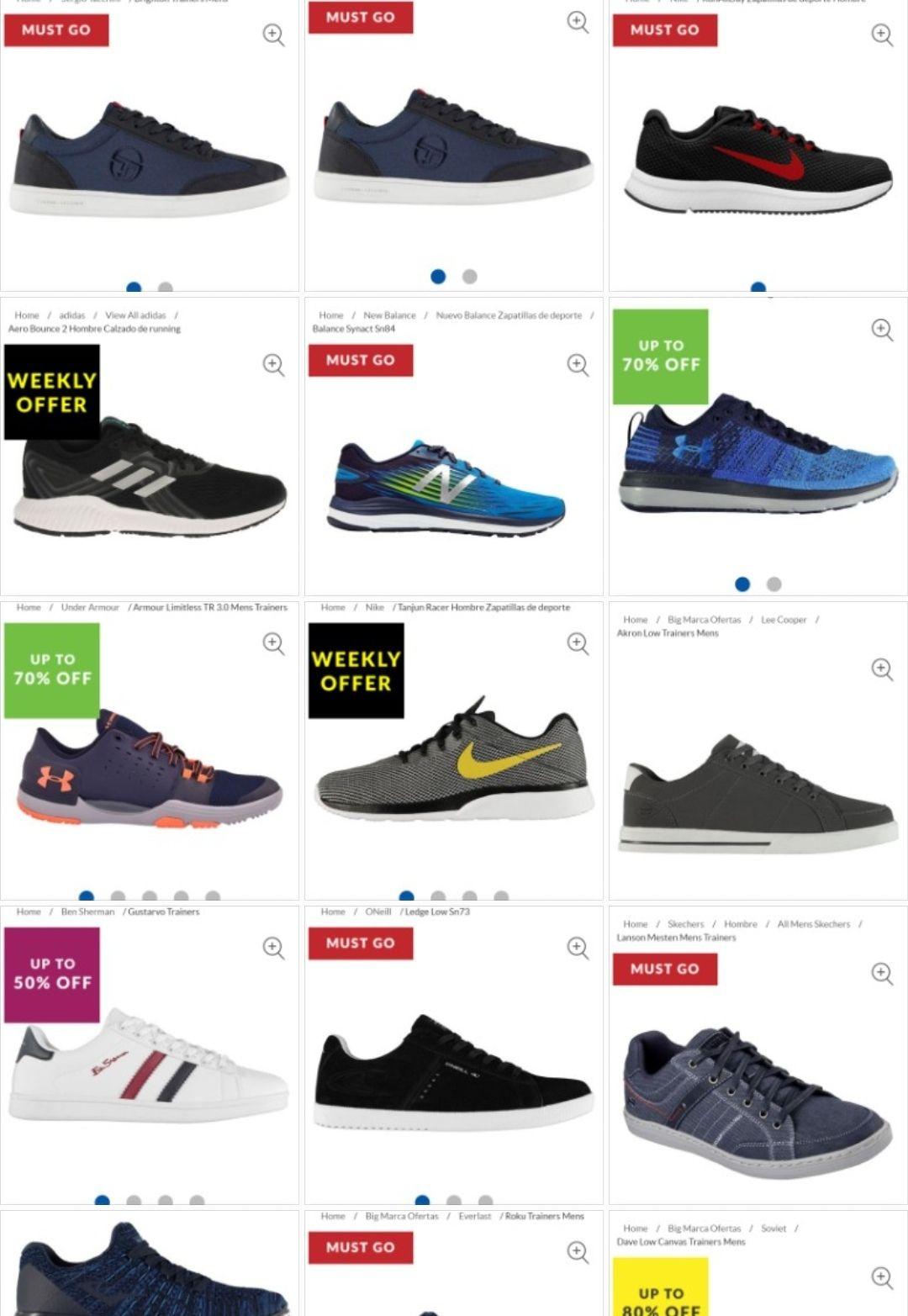 50% hasta 80% Zapatillas Hombre recopilación Varios modelos/marcas