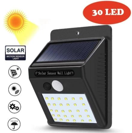 Luz LED con sensor de movimiento - Jardín