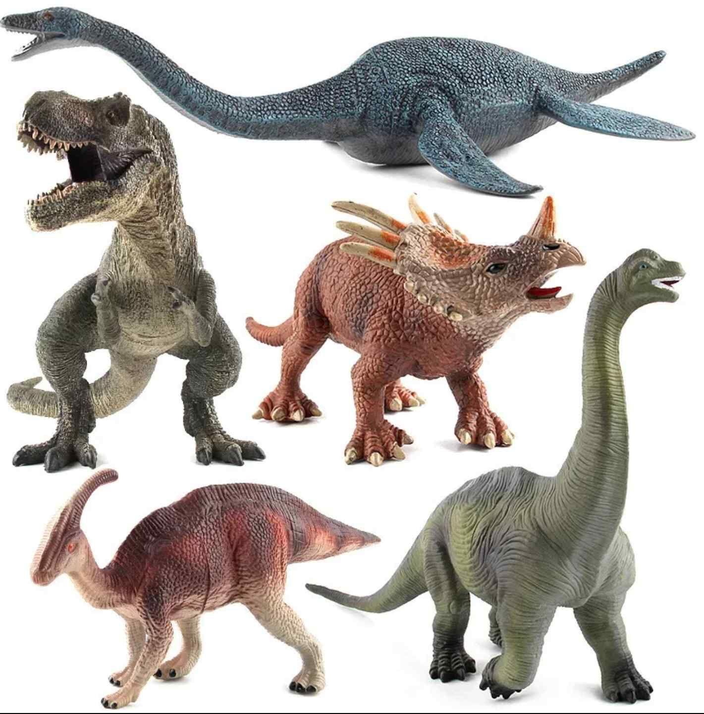 Dinos y saurios juguete tamaño jurásico acción park