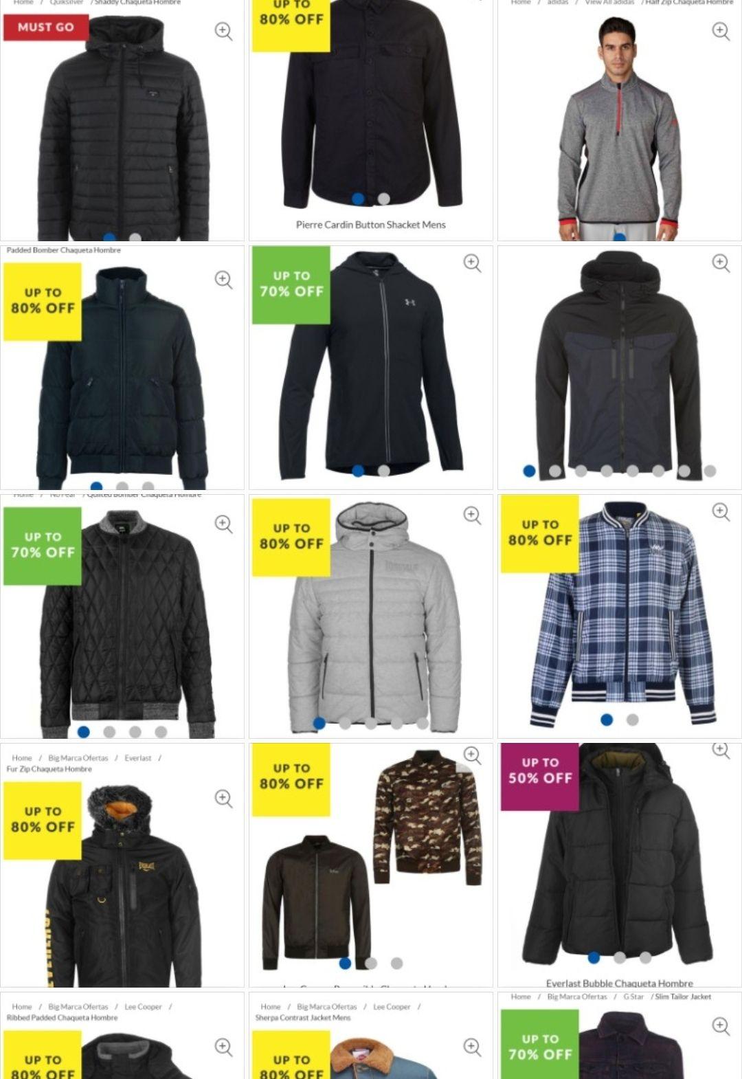 Recopilación Chollos chaquetas/abrigos de hombre varias marcas