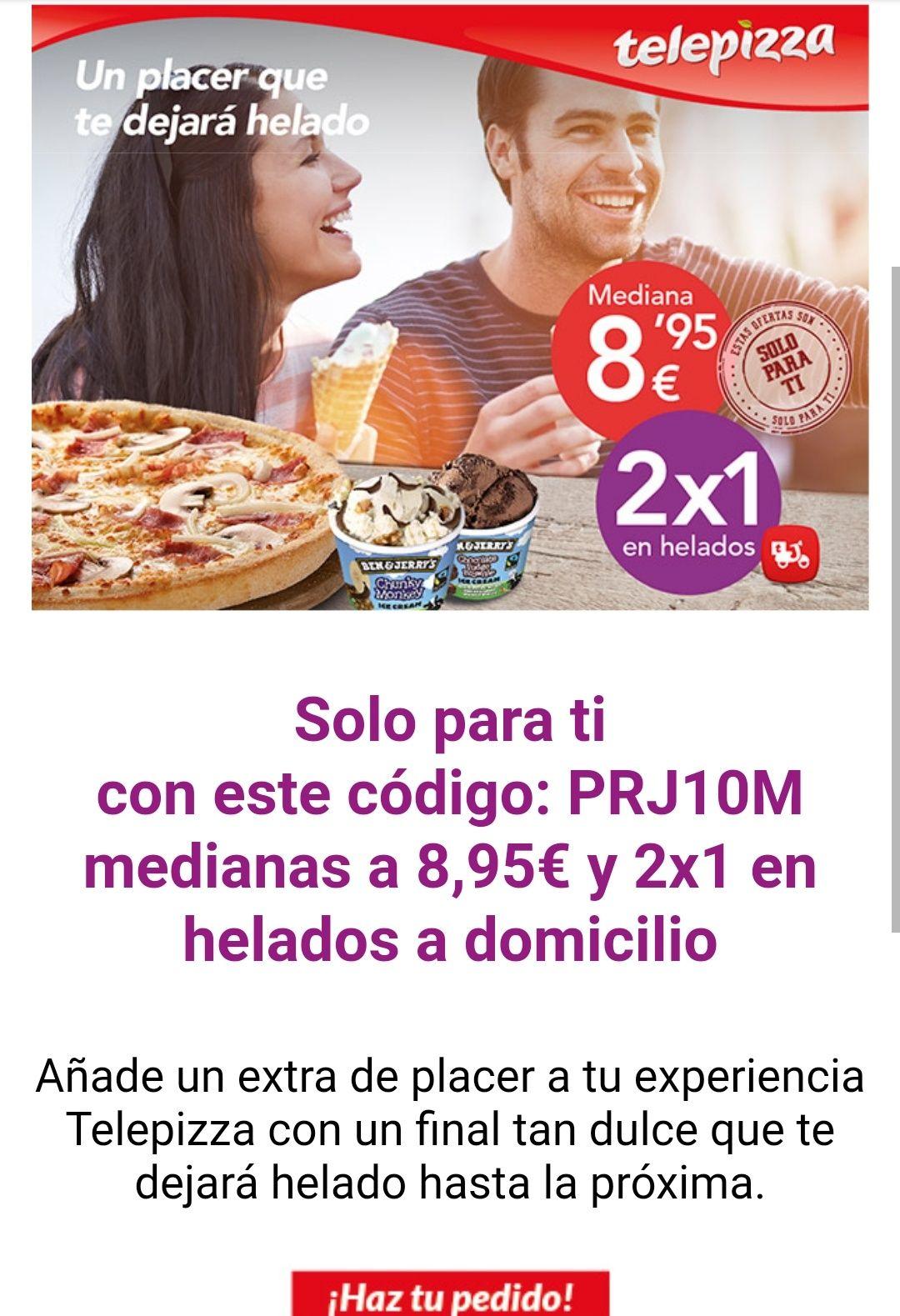 Telepizza - medianas a 8,95€