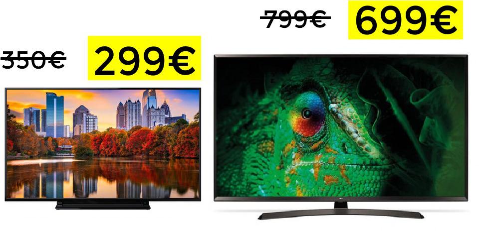 "TV Toshiba 43"" 4k Smart TV solo 299€"