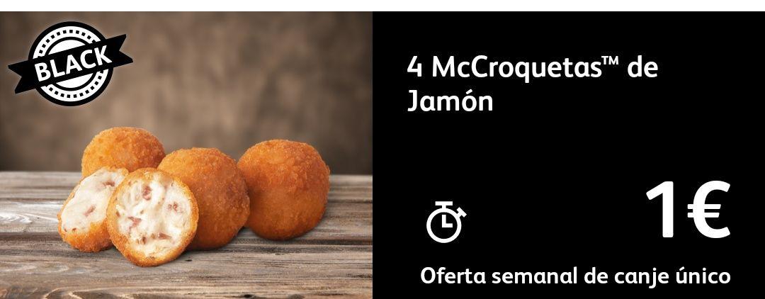 4 McCroquetas de jamón a 1€