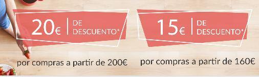 Descuento de 20€ por compras superiores a 200€  en Carrefour Super Online