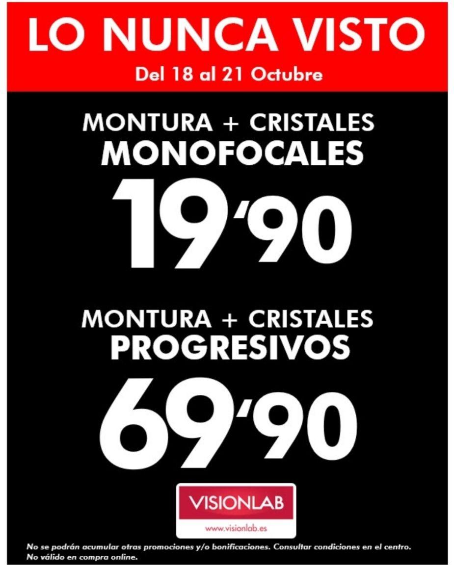 Gafas graduadas monofocales por 19.90 y gafas progresivas 69.90€
