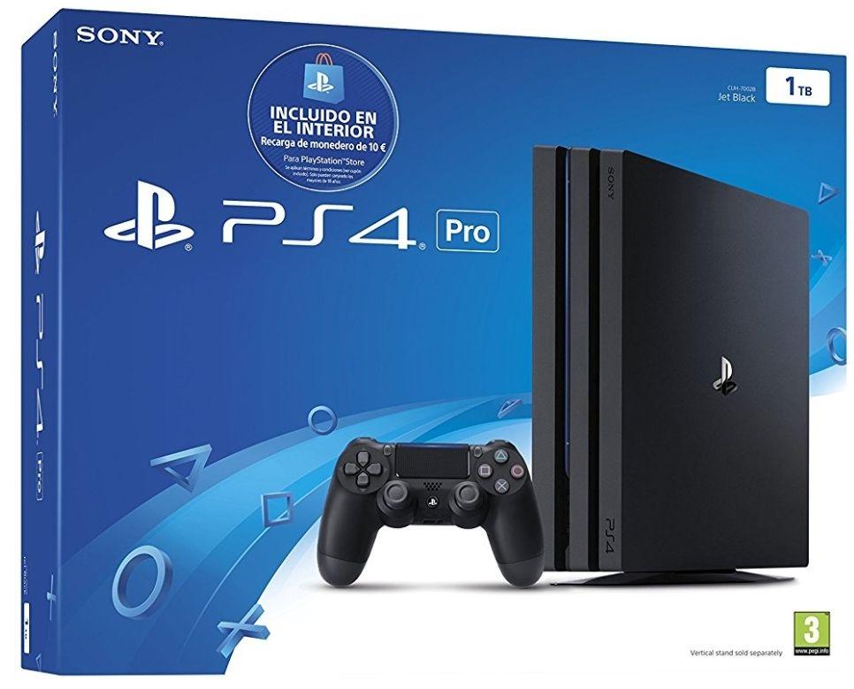 PlayStation 4 Pro (PS4) - Consola de 1 TB (incluye recarga de monedero)